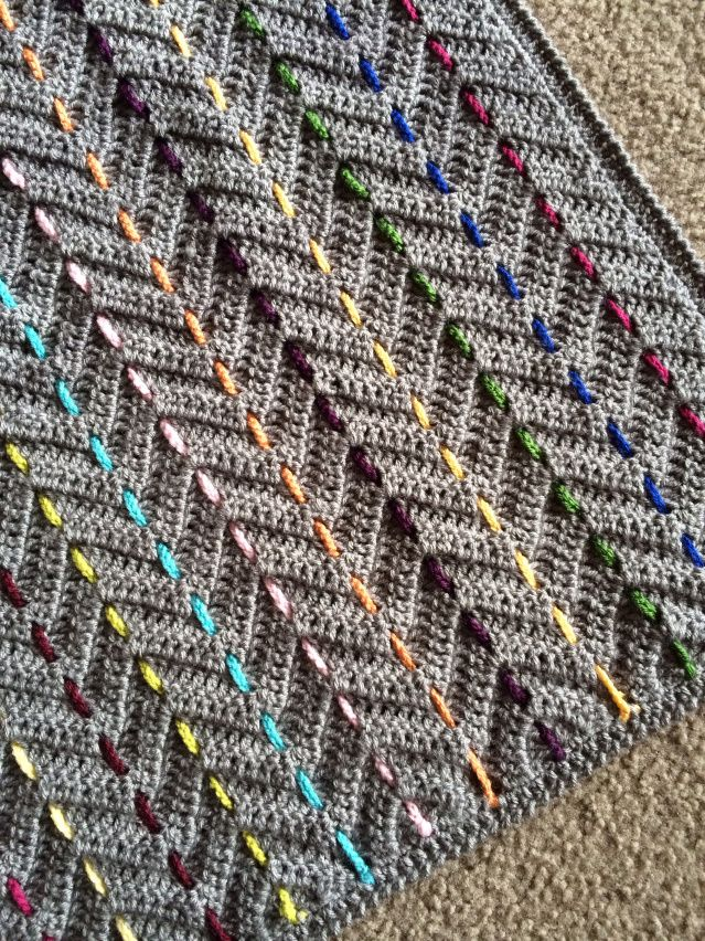 Threaded Colors Chevron Pattern   Crochet   Pinterest   Manta ...