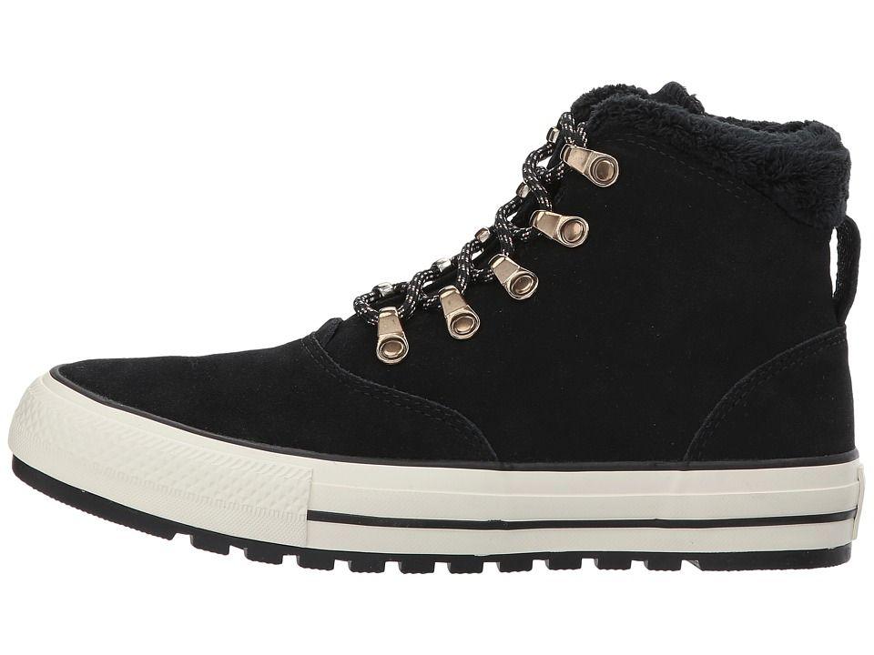 684ba7351a2f Converse Chuck Taylor(r) All Star(r) Ember Boot Suede Faux Fur Hi Women s  Lace-up Boots Black Black Egret