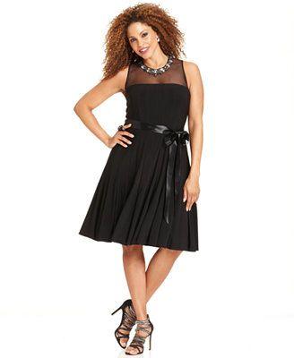 Xscape Plus Size Dress Sleeveless Beaded A Line Lace Pinterest