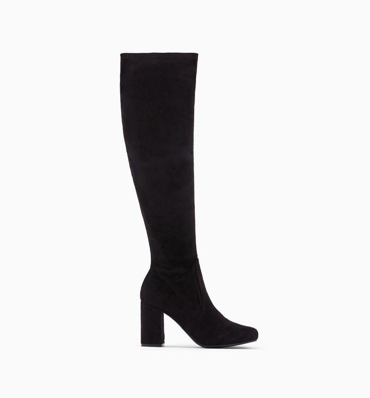 Forever Comfort® Hohe Stiefel mit Blockabsatz, Schwarz