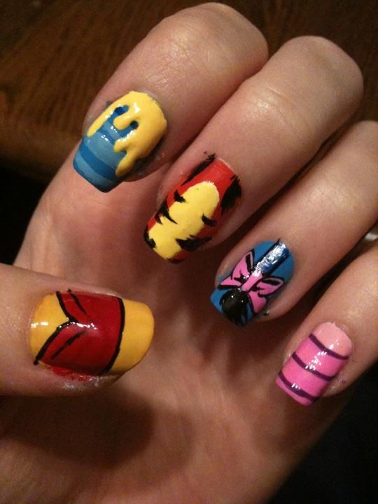 winnie the pooh nails!! :) | Nail Designs | Pinterest ...