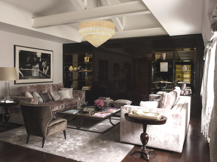 very masculine style Hollywood Regency Luxe living room | grey ...