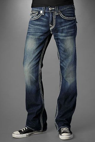 True Religion Men's Billy QT - Rusty Barrel Med Jeans