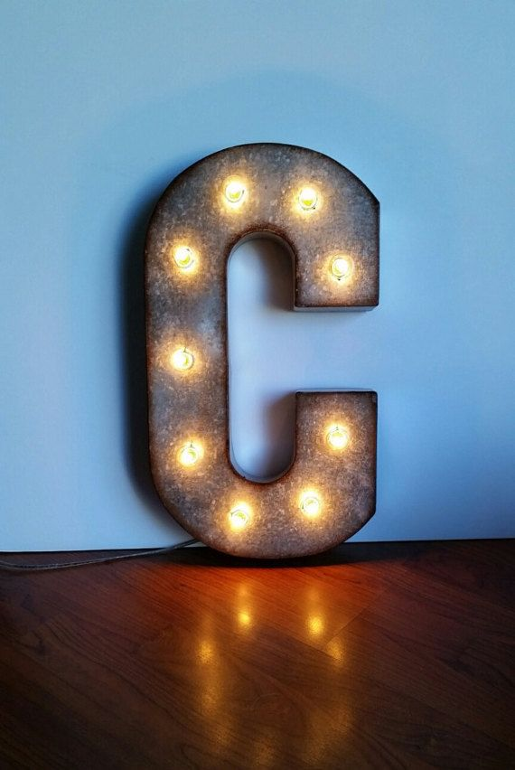 Metal Marquee Letters 21 Sign Light Up Electric Bulbs Etsy Sign Lighting Light Letters Light Up Letters