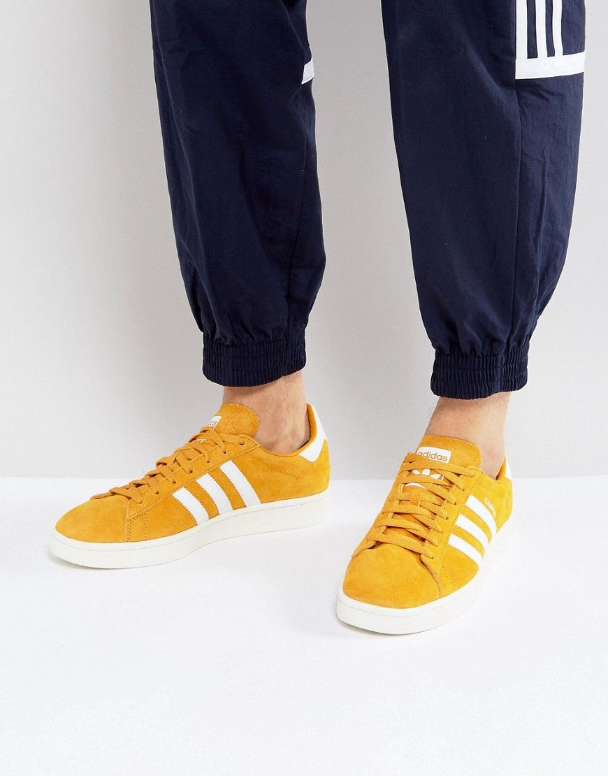 adidas campus mens yellow