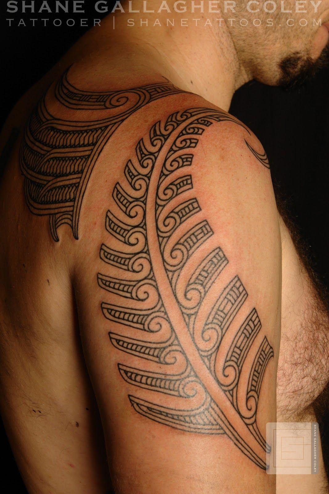 Maori Feather Tattoo: Maori Tattoo By Shane Gallagher