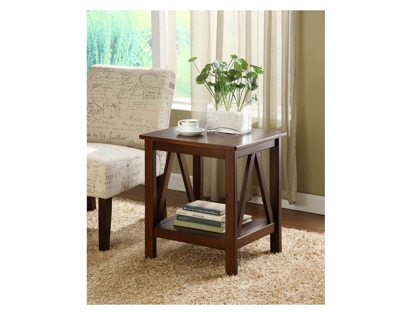 Titian End Table Brown Linon In 2019 End Tables Table Room