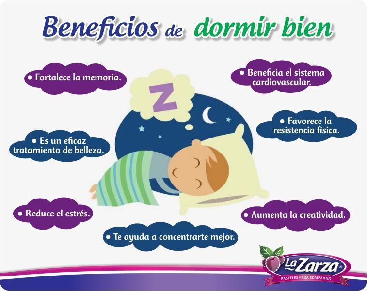 Beneficios de dormir bien infograf a dormir sue o - Para dormir bien ...