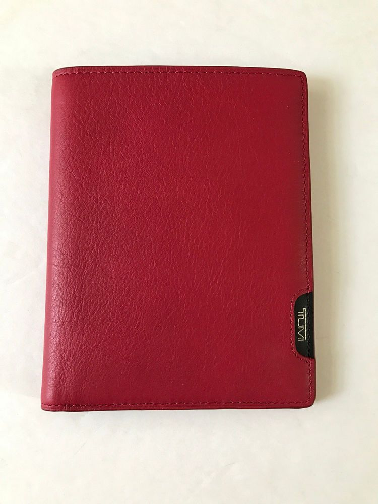 Tumi Passport Case Wallet RED OR BLACK NWT | Tumi and Black