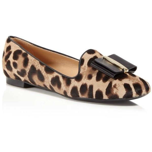 d529980777f2 Salvatore Ferragamo Aosta Leopard Print Calf Hair Loafers ( 690) ❤ liked on Polyvore  featuring shoes