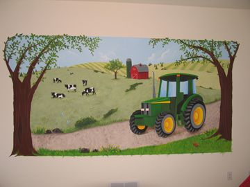 Tractor wall murals below for an expanded view and