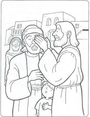 Presentacion De La Historia Del Ciego Bartimeo A Continuacion Teneis Dibu Paginas Para Colorear De Biblia Historias De La Biblia Para Ninos Biblia Para Ninos