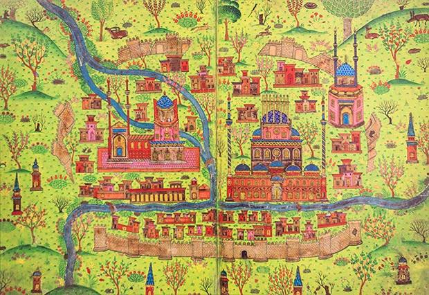 Matrakci S Cities Miniatures By Nasuh Matrakci Magazine Islamic Arts Magazine Islamic Art Illustration Art Magazine Art