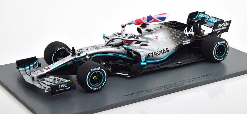 1 18 Spark Mercedes Amg Petronas W10 F1 Lewis Hamilton 2019 British Gp Winner Spark Mercedesbenz F1 Lewis Hamilton Amg Petronas Mercedes Amg
