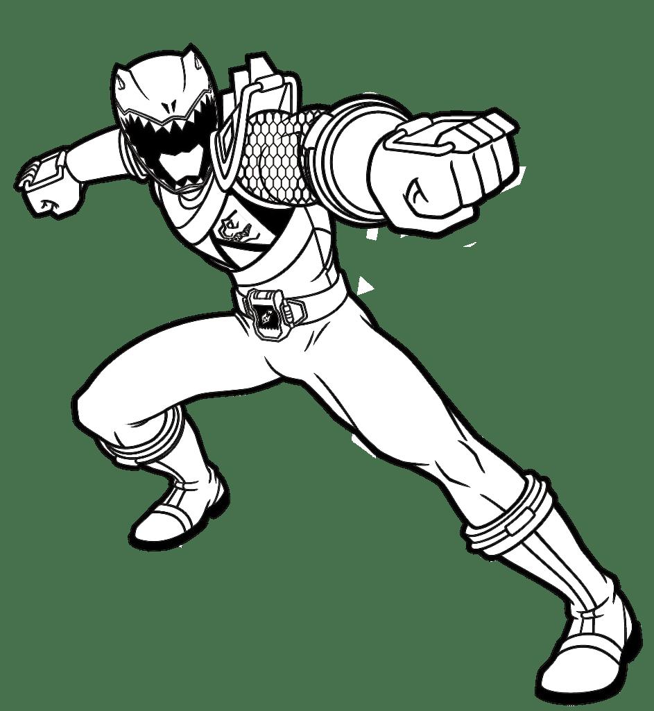 Jogo Pintar Power Ranger Vermelho Power Rangers Para Colorir