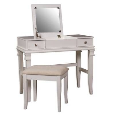 Product Image For Linon Home Angela 2 Piece Vanity Set For The