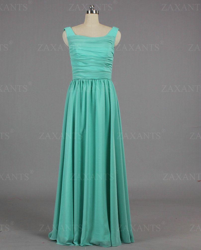 E fashion discount chiffon turquoise long homecoming dresses