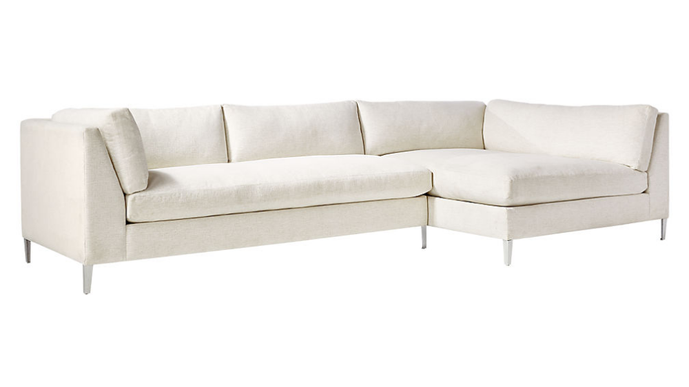 Decker 2 Piece Snow Sectional Sofa In 2020 Sectional Sofa