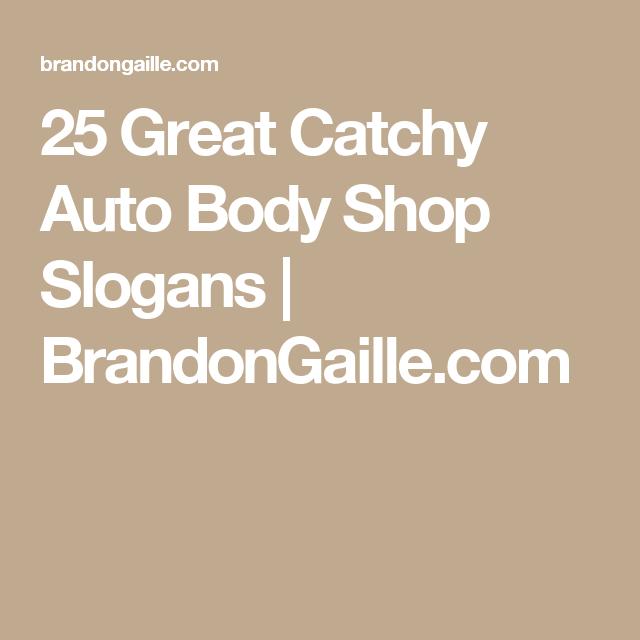 List Of 250 Good Auto Repair Shop Names Brandongaille Com