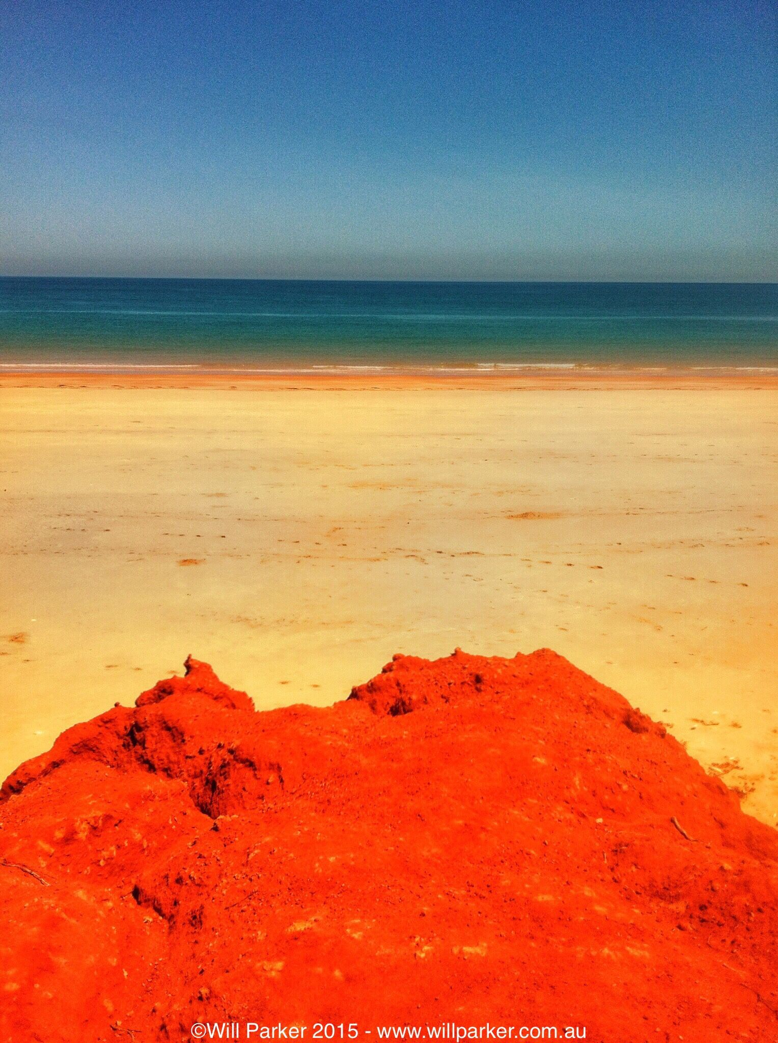 Where The Desert Meets Sea Red Pindan Sand Gives Way To Beach Then Ocean In Cleanest Of Lines Broome Western Australia