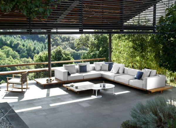 Hochmodernes Gartenmöbel Set aus Teak von Tribu | Teak