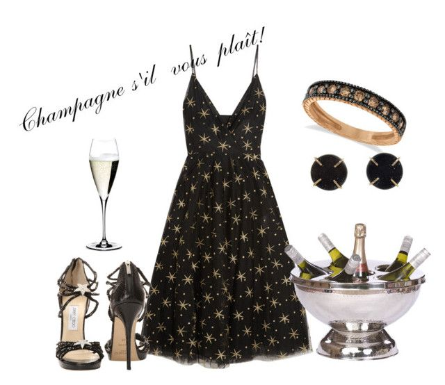 """""""Party"""" by isabelle-talbot on Polyvore featuring mode, Valentino, Allurez, Jimmy Choo, Melissa Joy Manning et Riedel"""