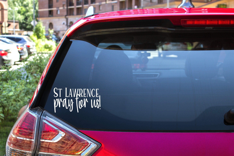 Patron Saint Car Sticker Chose Your Saint Etsy In 2020 Funny Car Decals Car Decals Vinyl Car [ 2000 x 3000 Pixel ]
