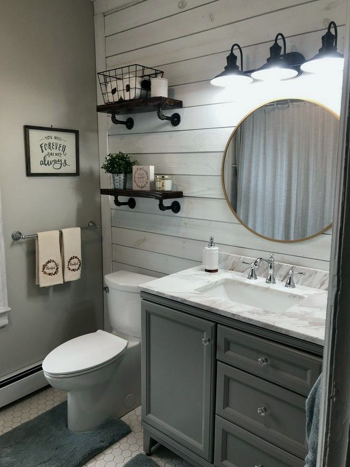 38+ gorgeous farmhouse bathroom decor ideas match with any home design 48 #smallbathroomremodel