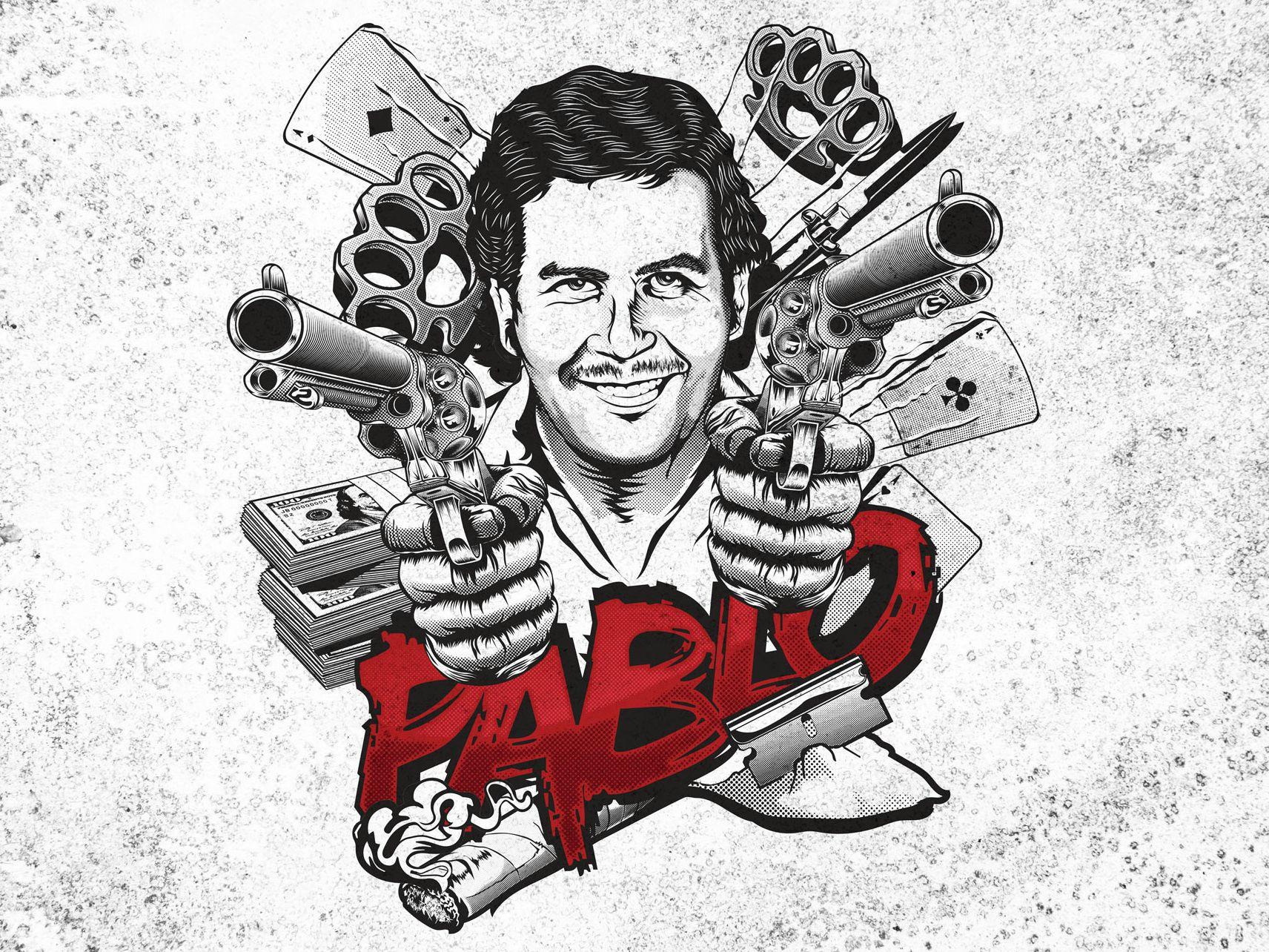 pablo escobar mafia man t shirt design