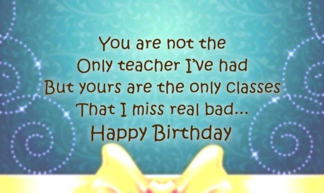 Happy Birthday Teacher Birthday Cards Images Wishes And