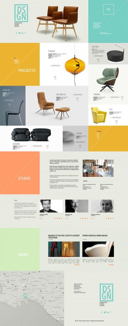Design Studio Portfolio Website PSD Template   < ui >   Pinterest ...