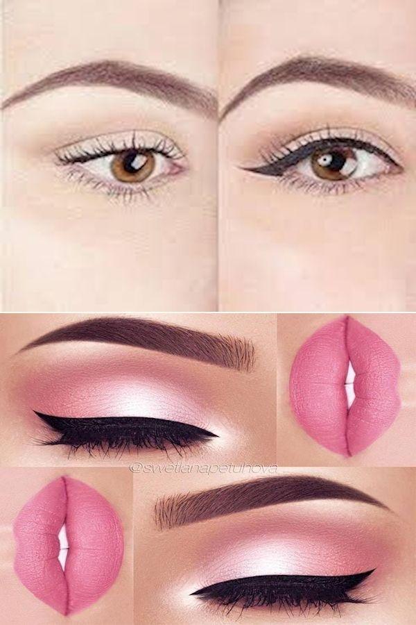 Good Eyeliner | Eye Makeup Eyeliner | Maroon Glitter Eyeshadow