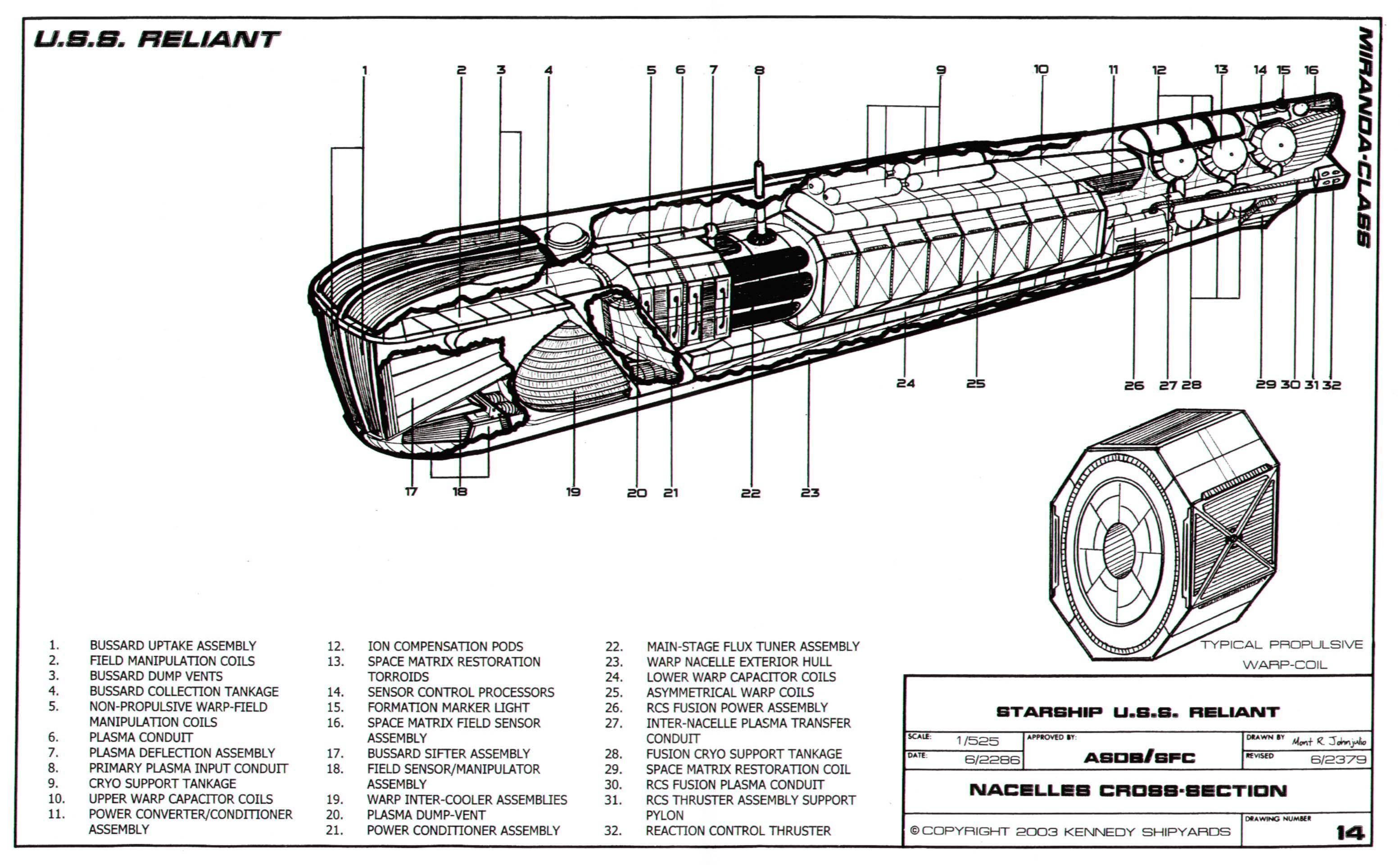 Miranda Class Starship U S S Reliant