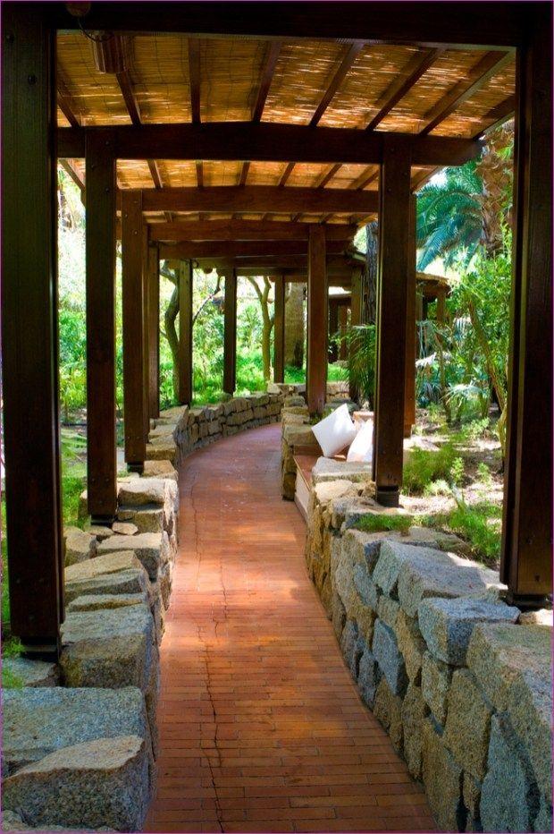 Interesting House Exterior Design In Kulai Malaysia: 40 Stunning Covered Garden Walkway Ideas