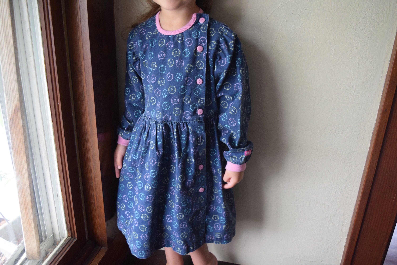 Vintage 4t Girls Oshkosh Dress Cat Button Down Dresses Dress Bloomers Vintage Baby Girl [ 2000 x 3000 Pixel ]