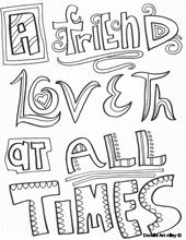 A Friend Loveth At All Times With Images Bible Verse Coloring Page