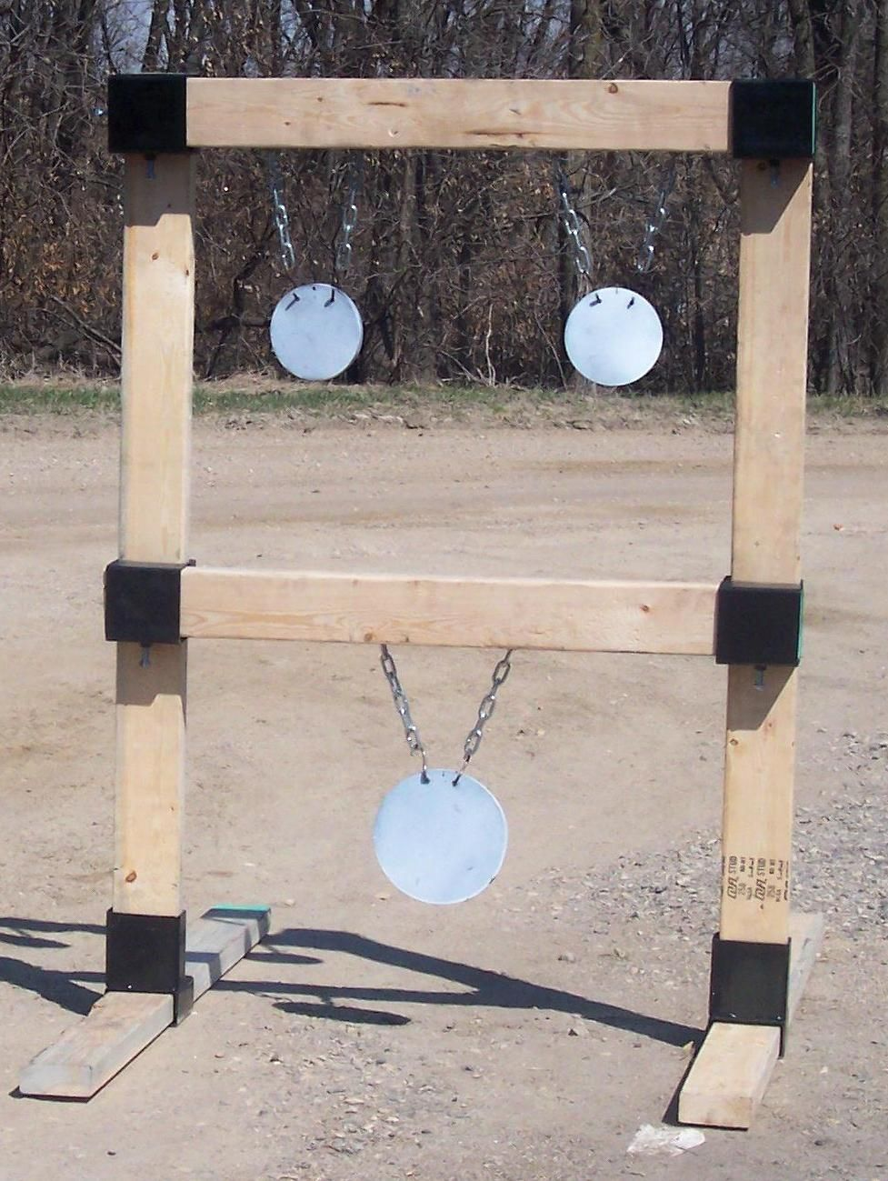 2x4 Hanging Target Stand Custom Steel Targets Plate