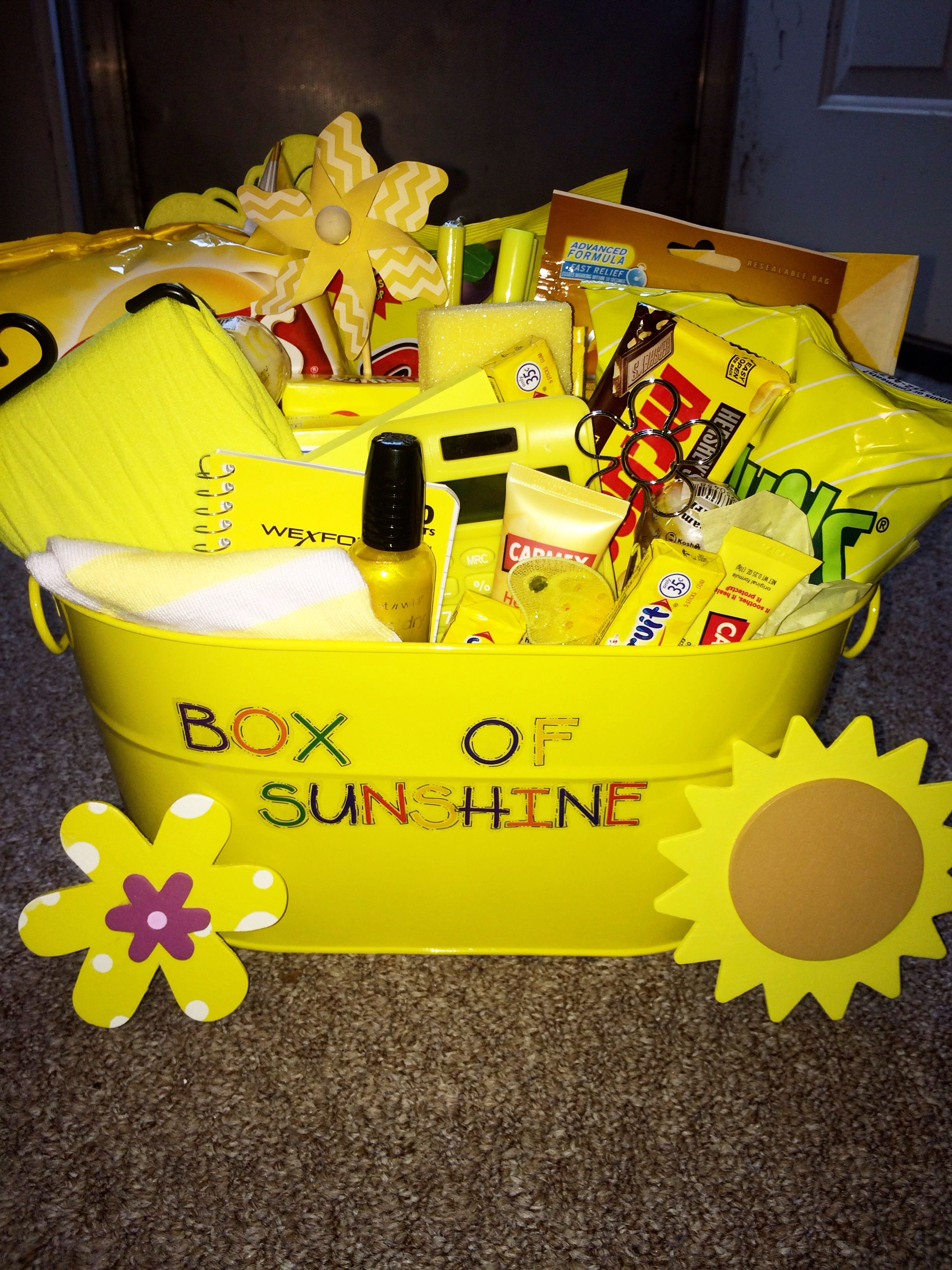 Box of sunshine i made for a friend cute birthday gift