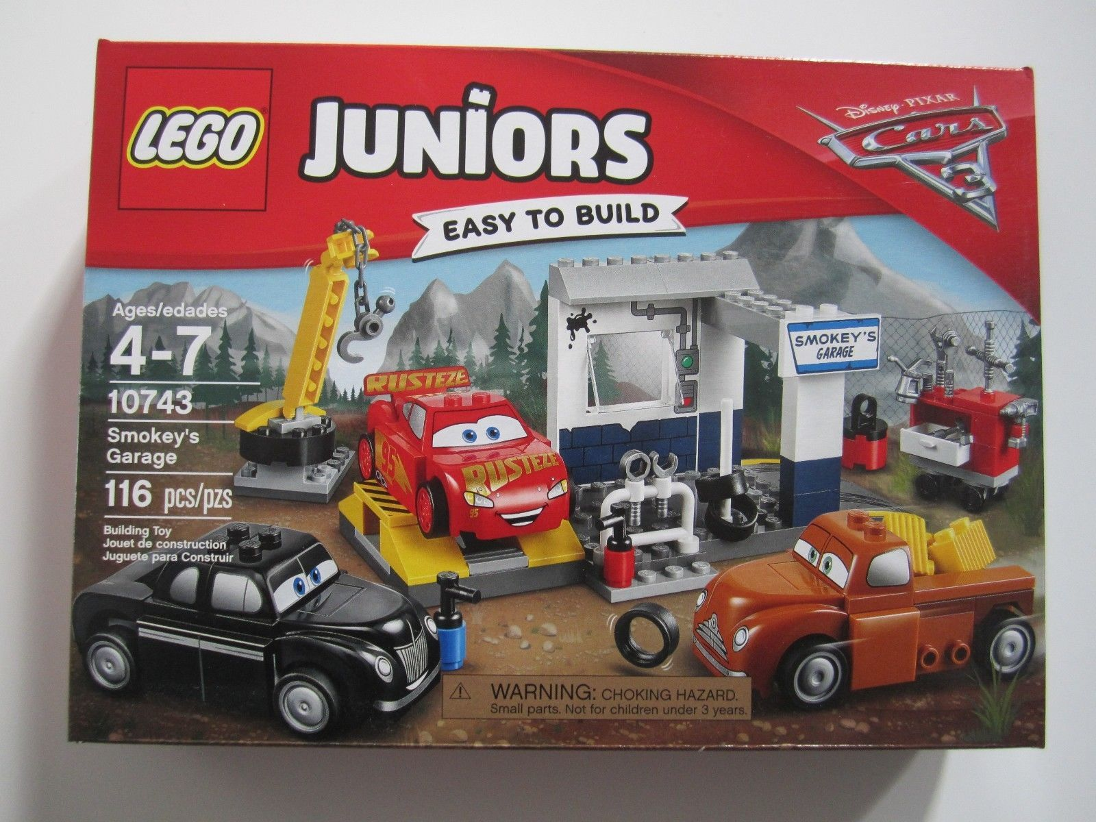 10672 Lego Juniors Disney Pixar Cars 3 Smokey S Garage 116 Pieces