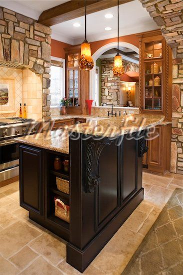 Double Decker Kitchen Island Stone Kitchen Outdoor Kitchen