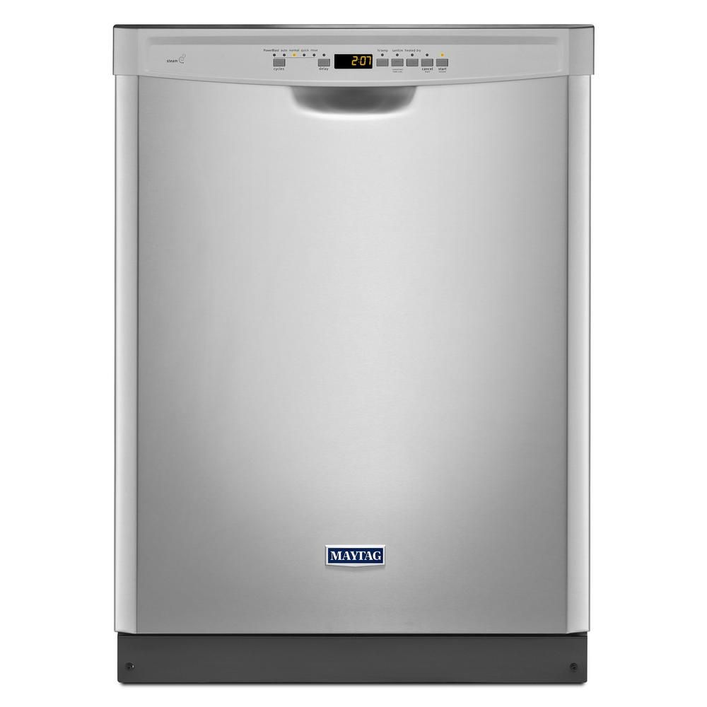Maytag Front Control Dishwasher In Fingerprint Resistant Stainless Steel With Stainless Steel Tub Mdb4949sdz Th Maytag Dishwasher Steel Tub Best Dishwasher