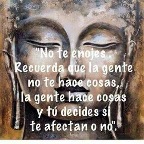 No Te Enojes Buddhism Spirituality Pinterest Frases Budismo Y