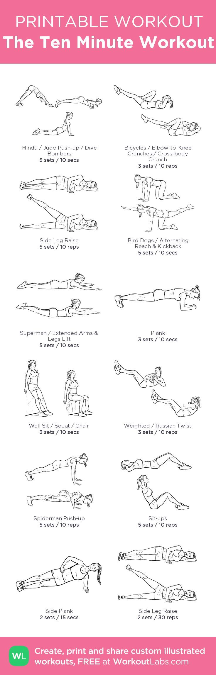 The Ten Minute Workout Work Out For Me Ten Minute