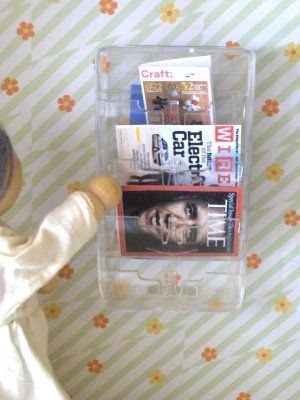 magazine rack from razor cartridge  Iemand nog wat scheermes verpakkingen in de…