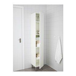 IKEA - LILLÅNGEN, Armoire, blanc, , La porte peut se monter avec ouverture à gauche ou à droite.Les pieds réglables permettent de compenser les irrégularités du sol.Une bonne solution quand on manque de place.
