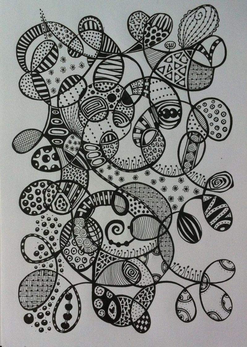 Cool Zentangle Patterns Colored