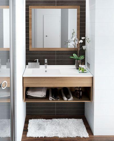 Meuble salle bain bois, design, Ikea, Lapeyre Étagères