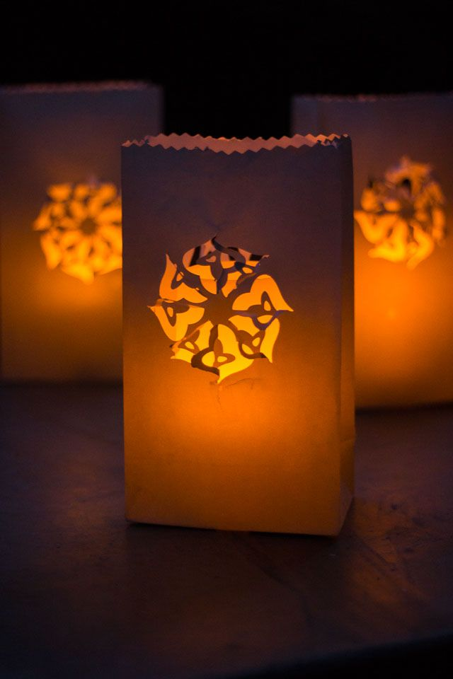 Paper Bag Luminaries You Can Make Beautiful Designs In Minutes Simply By Using A Punch Design Improvised Blog