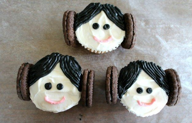"Princess Leia Cupcakes | Community Post: 17 Foods Guaranteed To Excite Any ""Star Wars"" Fan"