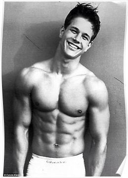 young marky mark wahlberg with calvin klein poster by robadict